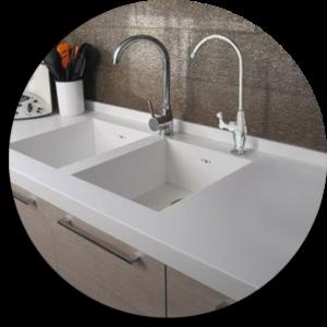 Ambientazione cucina con rubinetto a una via per BWS-easy [2]