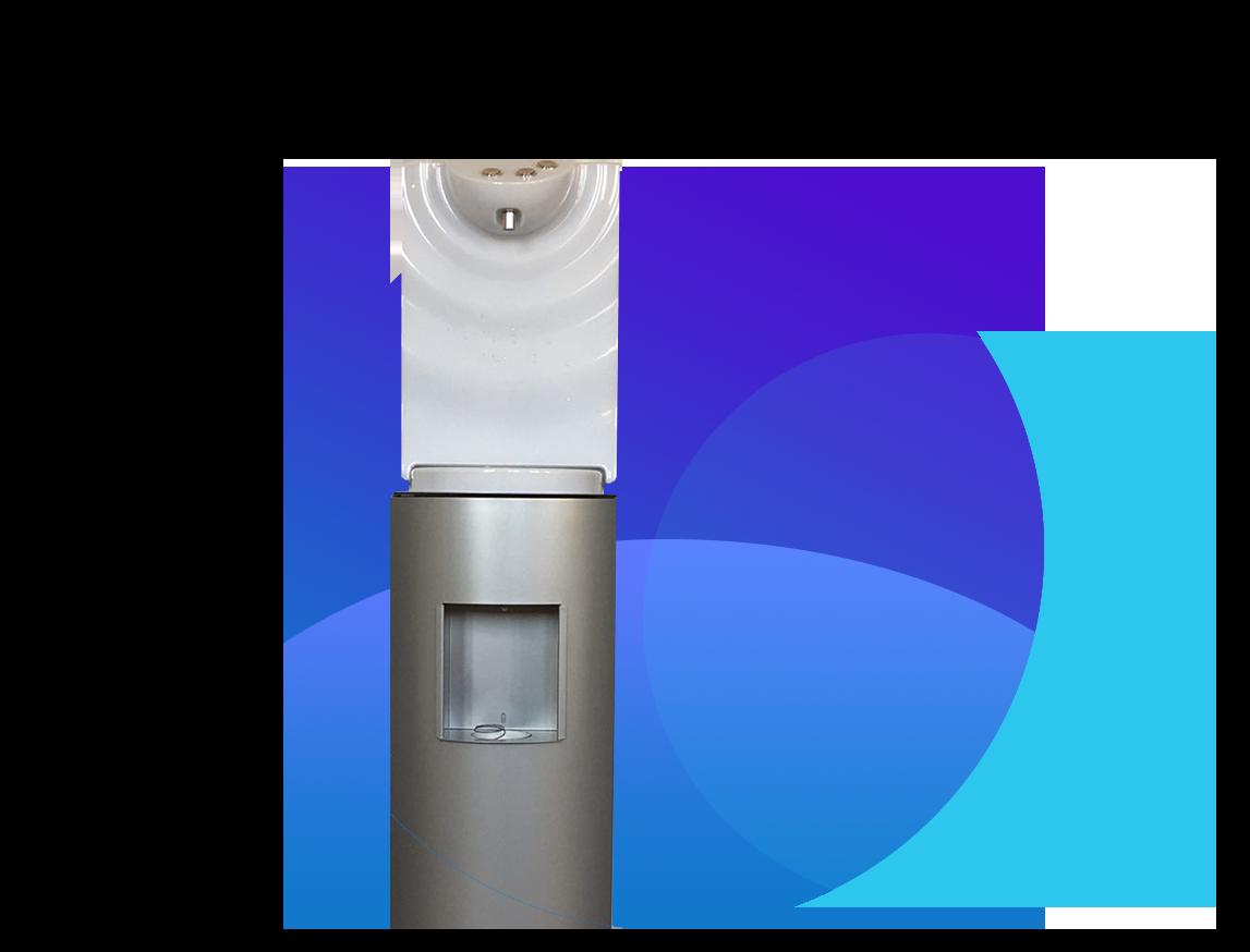 SorgenteMia con mobiletto impianto per il trattamento dell'acqua