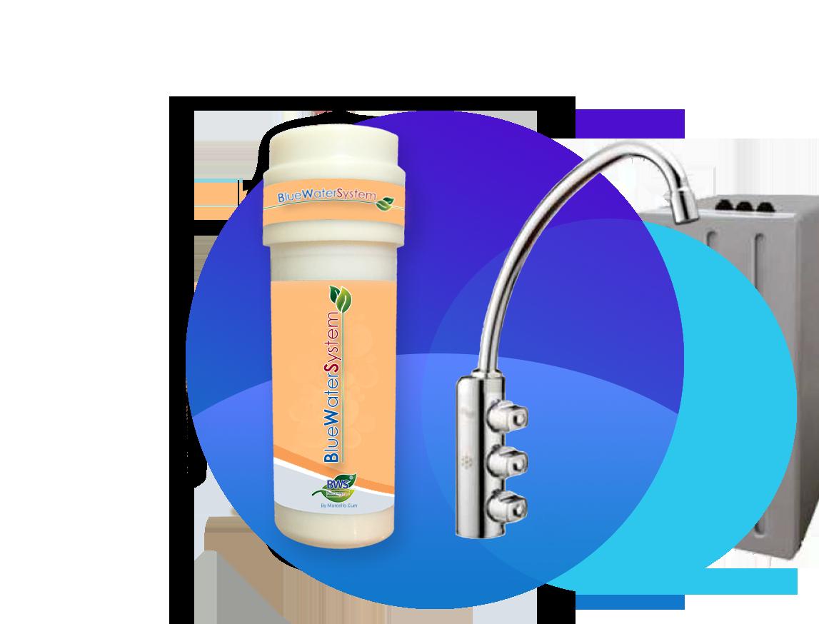 Filtro acqua dearsenificatore con rubinetto a tre vie